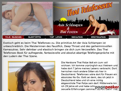 Details : Telefonsex Faustfick mit Asia Schlampen